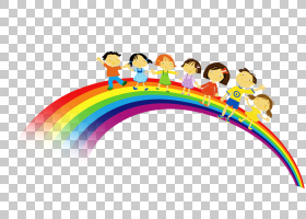 彩虹儿童欧几里德,彩虹装饰图案PNG剪贴画的多彩儿童颜色飞溅,文