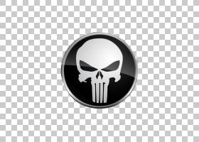 惩罚者T恤纸铁,头骨PNG剪贴画会徽,超级英雄,奖牌,徽标,电脑壁纸,