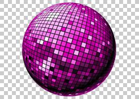 迪斯科球,迪斯科球,紫色镜球PNG剪贴画紫色,紫罗兰色,球体,洋红色