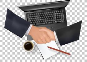 笔记本电脑握手电脑,电脑桌合同谈判PNG剪贴画计算机网络,计算机,图片