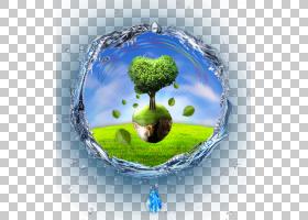 地球树,树木在水中PNG剪贴画地球仪,云,树分支,下降,电脑壁纸,棕