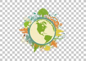 地球绿色Cdr,创意元素地球PNG剪贴画电脑壁纸,颜色,世界,封装的Po