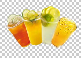 茶汁鸡尾酒装饰Limeade柠檬水,夏天喝PNG剪贴画茶,健康摇,非酒精