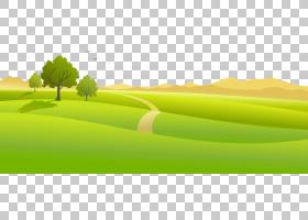 草地与树木,三棵绿树PNG剪贴画演示文稿,电脑壁纸,草,桌面壁纸,产