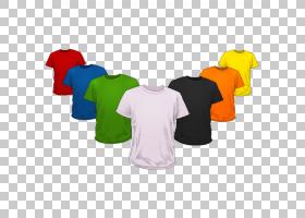 T,衬衫样机设计,T恤模型PSD PNG剪贴画模板,t恤,时尚,上衣,衣服,