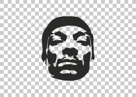 Snoop Dogg史努比,snoop dogg PNG剪贴画名人,脸,标志,单色,头,音