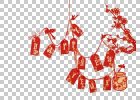 中国新年祝愿新年问候,中国新年庆祝PNG剪贴画文化,假期,文本,中