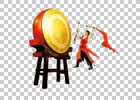 中国鼓,鼓PNG剪贴画新的,新的一年,中国,封装的PostScript,油桶,