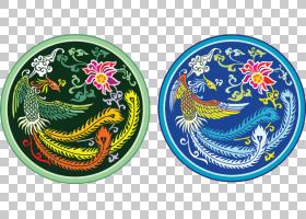 中国龙欧几里德凤凰图案,龙纹图案徽章PNG剪贴画龙,几何图案,生日