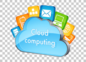 云计算互联网应用软件服务提供商,云计算文件PNG剪贴画文本,服务,