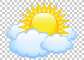 云阳光,太阳与云透明,太阳PNG剪贴画剪贴画,电脑壁纸,笑脸,天空,