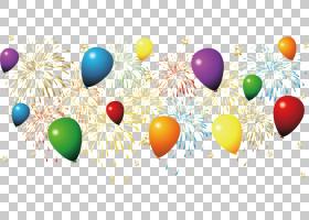 烟花新年,烟花PNG剪贴画假期,气球,电脑壁纸,复活节彩蛋,派对,烟