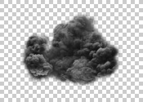 烟雾透明度和半透明度,黑烟PNG剪贴画云,单色,阴霾,封装PostScrip