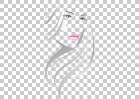 美容院,线时尚美丽,女人肖像PNG剪贴画白,脸,时尚女孩,文本,化妆