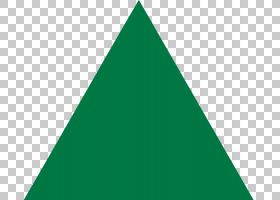 彭罗斯三角形等边三角形形状,绿色三角形PNG剪贴画角,叶,三角形,