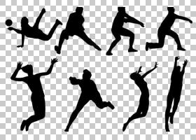 排球运动剪影,女子排球,动作PNG剪贴画女士配饰,公共关系,封装Pos