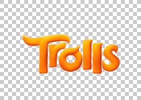 梦工厂动画巨魔盖伊钻石动画电影,巨魔标志PNG剪贴画文本,橙色,其