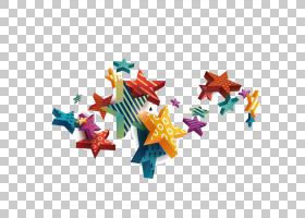 欧几里得,明星创意设计素材PNG剪贴画明星,生日快乐矢量图像,颜色