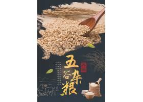 五谷杂粮燕麦海报
