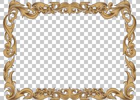装饰伊斯兰的几何图案,精致的伊斯兰边框,棕色木框架PNG剪贴画边