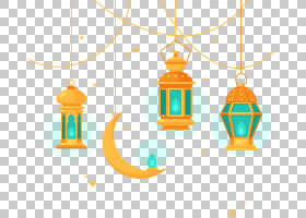 伊斯兰建筑枝形吊灯,伊斯兰风格的枝形吊灯,三个橙色挂灯笼PNG剪