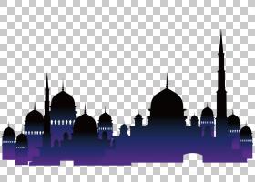 伊斯兰建筑清真寺古兰经穆斯林,伊斯兰教堂,清真寺PNG剪贴画紫色,