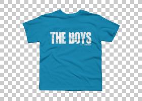 印花T恤,亚马逊服装,T恤,衬衫PNG剪贴画T恤,蓝色,白色,文字,蓝绿