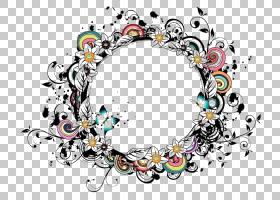圆形图案颜色,酷边框PNG剪贴画边框,杂项,框架,角度,文本,语音气