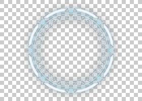 圆形宗教伊斯兰教模式,蓝色光发射的魔术圈,圆形白色和蓝色框架PN
