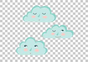 眼睛,蓝云PNG剪贴画蓝色,云,纺织,心,云计算,材料,封装PostScript