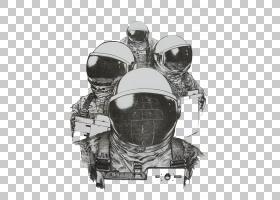 宇航员太空服绘图,宇航员PNG剪贴画摄影,单色,贴纸,外太空,鼓,空
