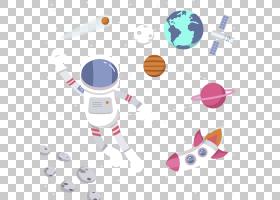 宇航员航天器,太空中的宇航员PNG剪贴画文本,外太空,地球,空间,宇
