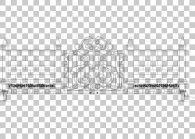 铁建筑立面,细胞铁门材料PNG剪贴画角,白色,家具,文本,围栏,对称