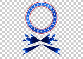 星形框架,美国椭圆形框架和星星装饰,圆形蓝色和白色与星星标志PN