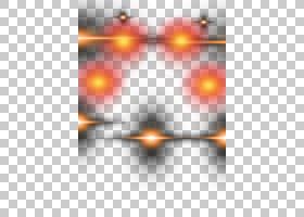轻的天空特写镜头角度,光线影响PNG clipart灯,橙色,效果,电脑,对