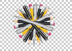 铅笔标记笔,使圆形铅笔和钢笔PNG剪贴画彩色铅笔,钢笔,钢笔,油漆,