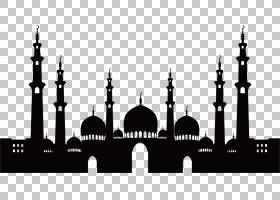 清真寺伊斯兰建筑,清真寺剪影素材,建设PNG剪贴画的剪影建筑,摄影