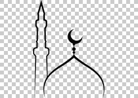 清真寺伊斯兰教寺穆斯林,清真寺,新月PNG剪贴画单色,royaltyfree,