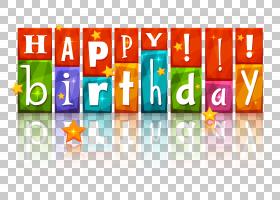生日蛋糕生日快乐,与星的透明五颜六色的生日快乐,生日快乐标志PN