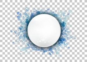 时尚图案圆形边框,月亮图形PNG剪贴画水彩绘画,边框,模板,框架,蓝