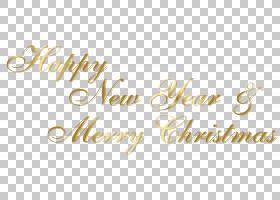 圣诞新年,黄金新年快乐和圣诞快乐文本,棕色背景与文本覆盖PNG剪