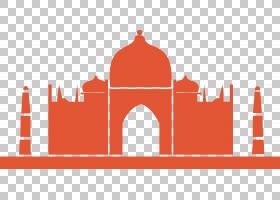 墙贴花伊斯兰教贴纸清真寺模具,宗教红色教堂PNG剪贴画海报,宗教,