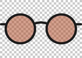 太阳镜欧几里德护目镜,圆形复古太阳镜PNG剪贴画复古,生日快乐矢
