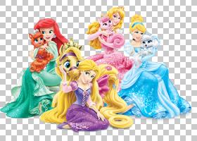 Ariel Tiana Merida Rapunzel公主极光,迪士尼公主PNG剪贴画卡通,