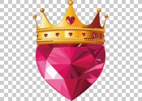 皇冠君主股票图,皇冠,棕色皇冠和粉红色的宝石心图PNG剪贴画爱,国