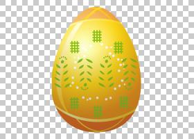 橙色球形复活节彩蛋字体,复活节黄蛋与装饰,黄色和绿色蛋图PNG剪