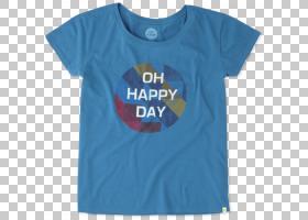 T恤电动蓝色服装钴蓝色,妇女节快乐PNG剪贴画T恤,蓝色,白色,文字,