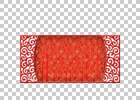 红色节日海报计算机文件,中国风欢乐红色背景PNG clipart中式,长