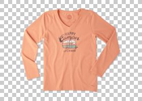 长袖T恤长袖T恤连帽衫,妇女节快乐PNG剪贴画T恤,橙色,时尚,活跃衬