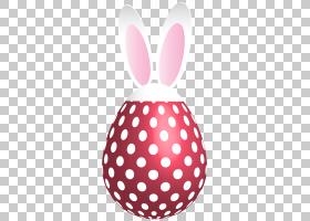 圆点股票摄影,复活节点缀兔子蛋红色透明PNG剪贴画剪贴画,结婚请